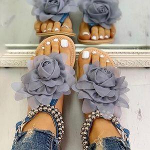 Blue Flower Accent Sandal